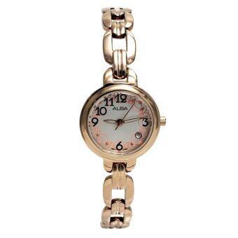 ต้องการขายด่วน ALBA นาฬิกาผู้หญิง สายสแตนเลสสตีล รุ่น AH7A56X - Pink Gold