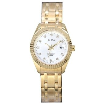 ALBA นาฬิกาข้อมือสตรี Gold Stainless Strap รุ่น AH7F96X1