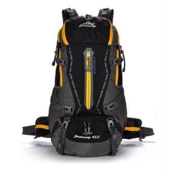 All around กระเป๋า Backpack รุ่น Nylon hiking waterproof 45L สี ดำ