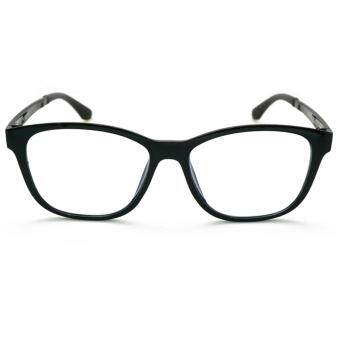ALP EMI Computer Glasses แว่นคอมพิวเตอร์ กรองแสงสีฟ้า Blue Light Block กันรังสี UV, UVA, UVB กรอบแว่นตา แว่นสายตา แว่นเลนส์ใส Square Style รุ่น ALP-E018-BKS-EMI (Black/Clear) - 2