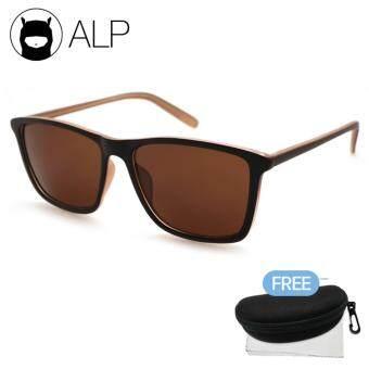 ALP Sunglasses แว่นกันแดด Wayfarer Style รุ่น ALP-0021-BRT-BR (Brown/Brown)