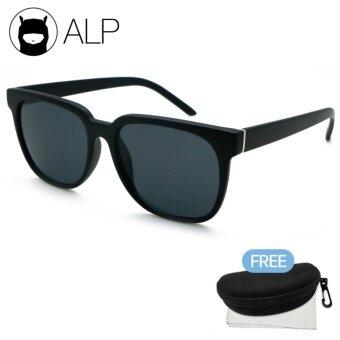 ALP Sunglasses แว่นกันแดด Wayfarer Style รุ่น ALP-0047-BKT-BK (Black/Black)