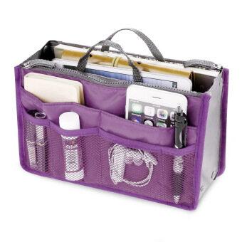 อยากขาย Amartเก็บกระเป๋าออแกไนเซอร์แบบพกพาท่องเที่ยวอเนกประสงค์กระเป๋าถือลำลอง(สายสีม่วง)