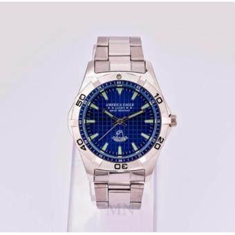 america eagle lucky ae007l 1504771378 31836604 f057093ce1b21dc00863648aed5e559c product ถูกเว่อ AMERICA EAGLE นาฬิกาข้อมือผู้หญิงสายเงินหน้าปัดสีน้ำเงินขอบเงิน รุ่น LUCKY AE007L
