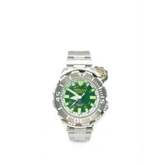 ราคา America Eagle นาฬิกาข้อมือผู้ชายสีเขียว สายstainless รุ่น LUCKY 3355G