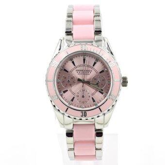ฟรี! กล่องเซ็ทสุดหรู America Eagle นาฬิกาข้อมือผู้หญิง กันน้ำได้ รุ่น WP8111 (Pink)