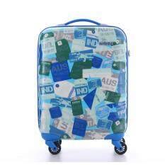 AMERICAN TOURISTER กระเป๋าเดินทางรุ่น PARALITE   SPINNER 55/20  TSA สี BLUE/MULTI LANDMARK