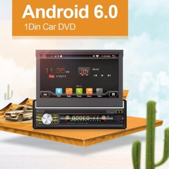 Android 6.0 ใหม่ Universal Car Auto วิทยุ Headunit สเตอริโอ 1 DIN Car DVD Player ระบบนำทาง GPS ใน Dash Car PC สเตอริโอ + Fre