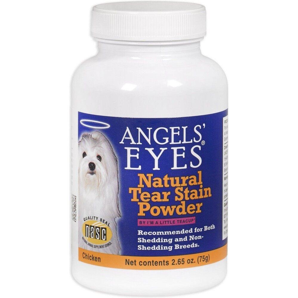 สุดยอดสินค้า!! Angels Eyes Tear Stain Powder (75 g) ลดคราบน้ำตาสุนัข คราบเหลือง กลิ่นเหม็นบนใบหน้า รส Chicken ( EXP: 06/2020) +ส่งฟรี KERRY+