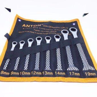 ต้องการขาย ANTON ชุดประแจแหวนข้างฟรี ปากตาย ขนาด 8-19 มม 8 ชิ้น