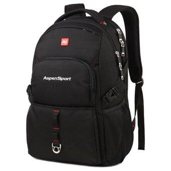 Aspensport กระเป๋าเป้ เป้สะพายหลัง Laptop 16 นิ้ว ชาย หญิง กันน้ำ รุ่น ASB09 - Black - 3