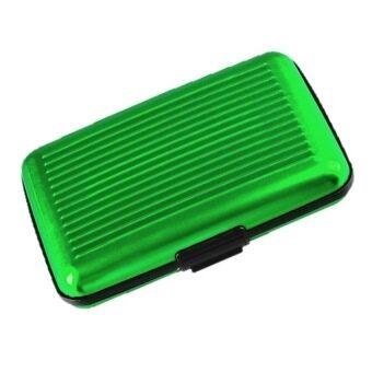 กระเป๋าอลูมิเนียม ใส่บัตรเครดิตการ์ด/นามบัตร/ATM (สีเขียว)