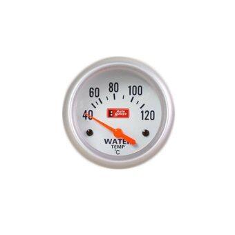 Autogauge เกจ์วัด หม้อน้ำ วัดหม้อน้ำ วัดความร้อน วัดความร้อนหม้อน้ำความร้อนหม้อน้ำ water temp gaugeรุ่น silver face 2.5 นิ้ว(ขอบเงิน /พื้นขาว)