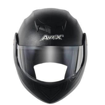 รีวิวพันทิป หมวกกันน็อคเต็มใบ AVEX CRUX สีดำด้าน แว่นดำ