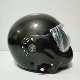 AVEX หมวกกันน็อคเต็มใบ รุ่น TOPGUN สีเทาบรอน แว่นดำ รูบที่ 3