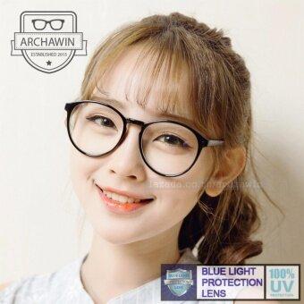 แว่นตากรองแสง แว่นกรองแสง กรอบแว่นตา แฟชั่น เกาหลี รุ่น AW 7860 (Black)(กรองแสงคอม กรองแสงมือถือ ถนอมสายตา)