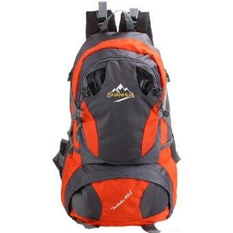 กระเป๋าเป้Backpackเดินทางสะพายหลัง กระเป๋าเป้เดินป่า สัมภาระอเนกประสงค์ กันน้ำ สีส้ม ขนาด 40 L