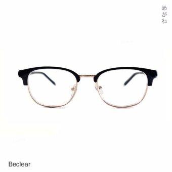 Beclear แว่นตา แว่นอ่านหนังสือ สายตายาว +125 ทรงเหลี่ยม คิ้ว (สีดำ-ทอง) 5151