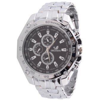 BEST Business Watch นาฬิกาข้อมือผู้หญิง สีเงิน สายสแตนเลส รุ่น WATCH- Black/Silver