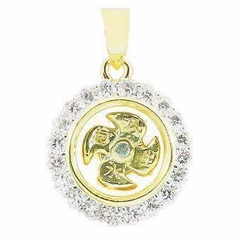 BEWI-G จี้ผู้หญิง สไตล์ จี้เสริมดวง Pendant กังหันนำโชค แชกงหมิว กังหันหมุนได้ ชุบทอง ฝังเพชร CZ ลวดลายดอกไม้ สุดหรูหรา รุ่น BG-P0016 สีทอง (Gold)