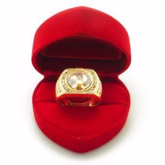 BEWI-G แหวนผู้ชาย สไตล์ แหวนเสริมดวง Ring แหวนกังหัน นำโชค แชกงหมิว กังหันหมุนได้ ประดับเพชร CZ ชุบทอง เหมือนทองแท้ หรูหรา รุ่น BG-R0032 สีทอง (Gold)