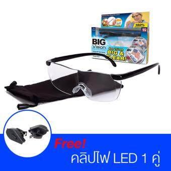Big Vision แว่นตาขยายไร้มือจับ ของแท้ พร้อมไฟ led ติดขาแว่น (ซื้อ 1 ชุด แถมอีก 1 ชุดฟรี)