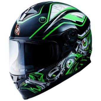 BILMOLA หมวกกันน็อก หมวกกันน็อค หมวกกันน๊อก หมวกกันน๊อค BILMOLA Defender Monster Green (Big Bike and motorcycle Helmet)