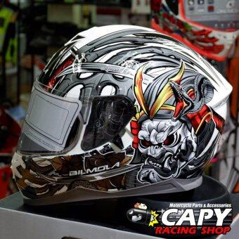 Bilmola หมวกกันน็อก หมวกกันน็อค หมวกกันน๊อก หมวกกันน๊อค Bilmola Defender Kabuki Black (Big Bike and motorcycle Helmet)