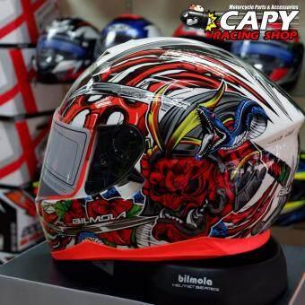 Bilmola หมวกกันน็อก หมวกกันน็อค หมวกกันน๊อก หมวกกันน๊อค Bilmola Defender Kabuki Red (Big Bike and motorcycle Helmet)