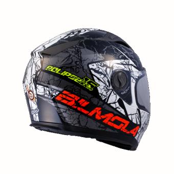 BILMOLA หมวกกันน็อก หมวกกันน็อค หมวกกันน๊อก หมวกกันน๊อค BILMOLA ECLIPSE สีขาว-ดำ Hard White Black (Big Bike and motorcycle Helmet)