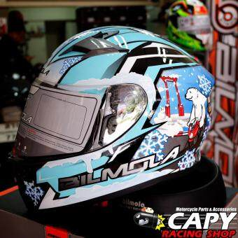 BILMOLA หมวกกันน็อก หมวกกันน็อค หมวกกันน๊อก หมวกกันน๊อค BILMOLA Veloce Snow Sky Blue (Big Bike and motorcycle Helmet)