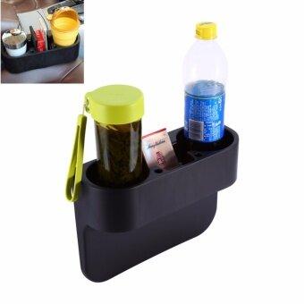 กล่องวางแก้วน้ำ อุปกรณ์ภายในรถยนต์ (black)