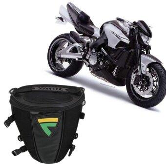 ซื้อ Black Motorcycle Mountain Bike Bicycles Riding Saddle Tail Bag Storage - intl
