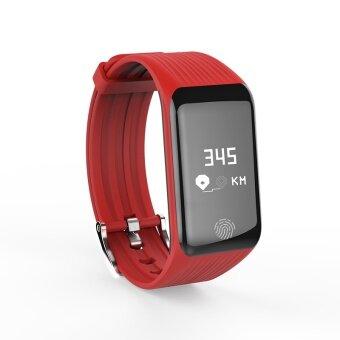 Bounabay Brand สมาร์ทสายรัดข้อมือ IP67 กันน้ำกีฬาฟิตเนส Tracker นาฬิกา Heart Rate การตรวจสอบ 0.66 หน้าจอ OLED สร้อยข้อมือ Bluetooth