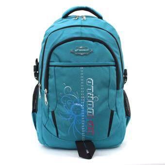 BP WORLD กระเป๋าเป้ รุ่น P1406-2 - สีฟ้า