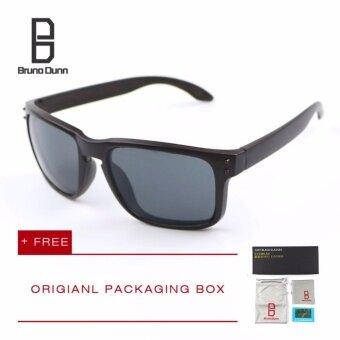 Bruno Dunn Brand หนุ่มแว่นกันแดดโพลาไรซ์ ผู้หญิงผู้ชาย แว่นตา holbrook (brown frame grey lense) - intl