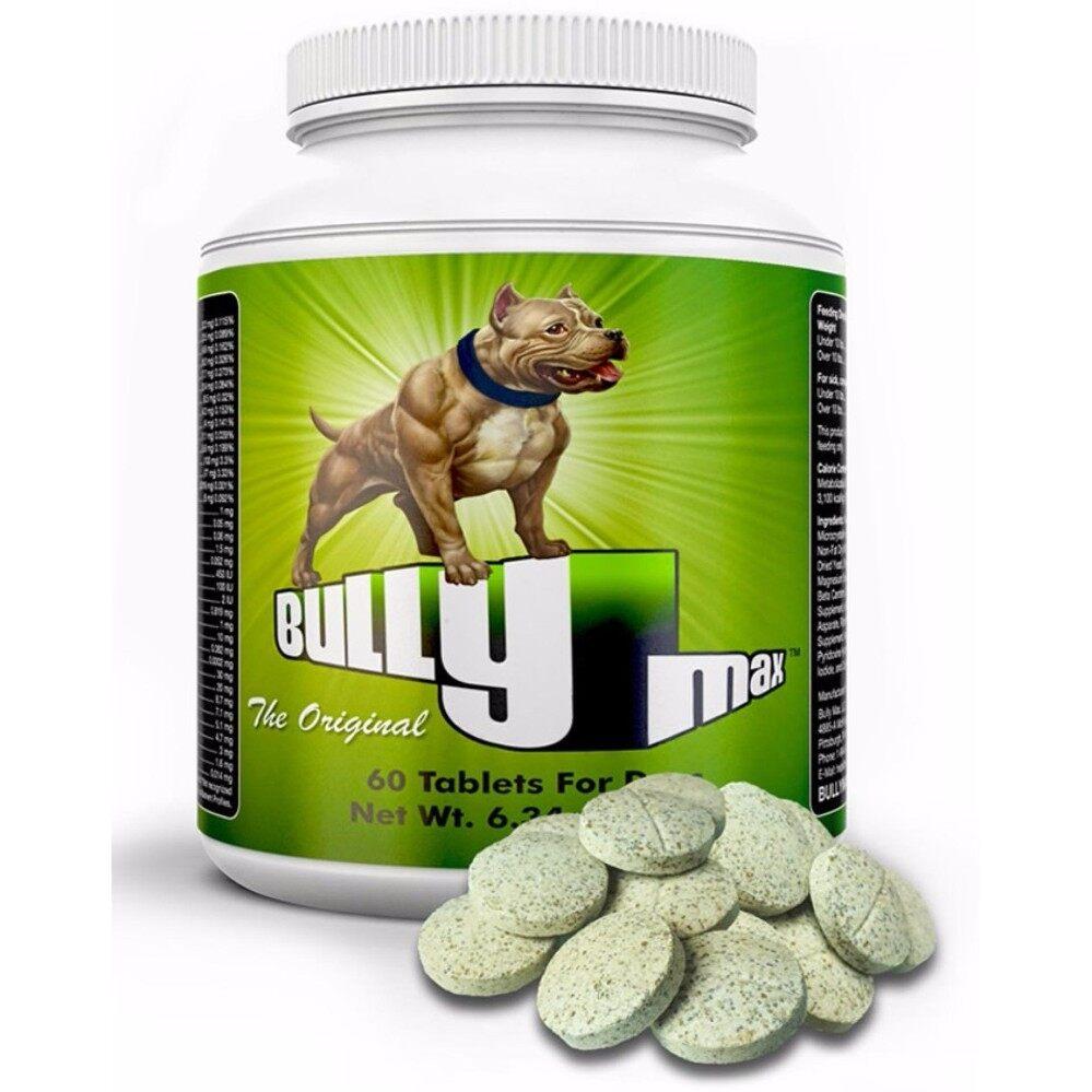 Bully Max Muscle Builder (60 เม็ด) อาหารเสริม สร้างกล้ามเนื้อสุนัข เนื้อแน่นสวยงาม (EXP: 09/2021) +ส่งฟรี KERRY+