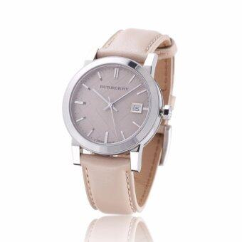 Harga Burberry Women's Watch Large Check Tan Leather Strap BU9107(Black)