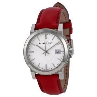 ซื้อ/ขาย Burberry Women s Watch Red Leather Strap BU9129(Black)