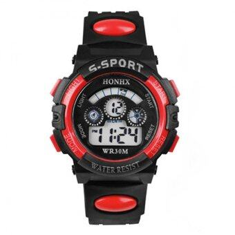 ต้องการขาย BUYINCOINS Waterproof Kids Boys Sports Multifunction Electronic LED Alarm Date Wrist Watch
