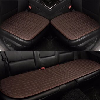 Car Seat CushionFront and Rear RowNon-slip FabricNo InstallationInterior AccessoriesCoffee - intl