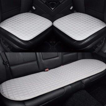 Car Seat CushionFront and Rear RowNon-slip FabricNo InstallationInterior AccessoriesSilver - intl