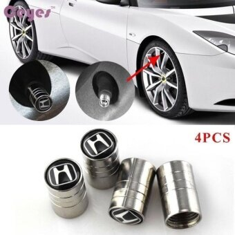 Car styling Car Wheel Tire Valves Tyre Stem Air Caps Cover case for Honda Civic Crv Accord Emblem Auto accessories Stainless steel 4pcs/set - intl