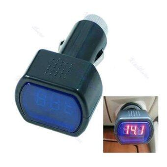 Car Volt meter โวลท์มิเตอร์ วัดแบตเตอร์รี่ วัดไดชาร์จ โดยเสียบกับ ที่จุดบุหรี่ในรถยนต์ แสดงผล LED สีแดง