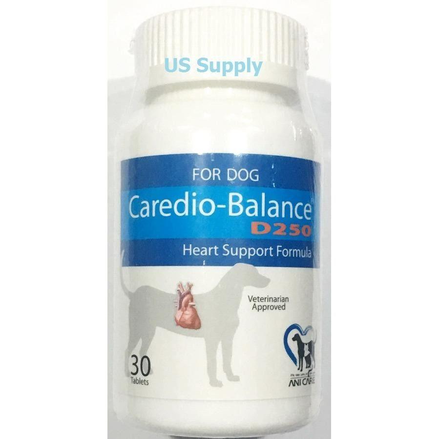 ลดสุดๆ Caredio Balance D250 วิตามินบำรุงหัวใจสุนัข เสริมการทำงานของหัวใจ (30 เม็ด) EXP: 04/2020 +ส่งฟรี KERRY+
