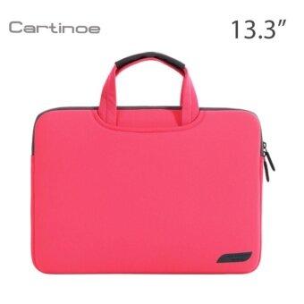 Cartinoe กระเป๋าโน๊ตบุ๊ค Notebook กระเป๋าถือ แฟชั่น สวยๆ น่ารัก ใส่เอกสาร ราคาถูก ใส่โน๊ตบุ๊ค 12 นิ้ว Macbook 13.3 นิ้ว สีชมพูเข้ม