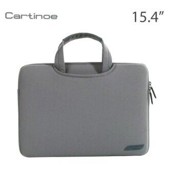รีวิวพันทิป Cartinoe กระเป๋าโน๊ตบุ๊ค Notebook กระเป๋าถือ แฟชั่น สวยๆ น่ารัก ใส่เอกสาร ราคาถูก ใส่โน๊ตบุ๊ค 14 นิ้ว Macbook 15.4 นิ้ว สีเทา