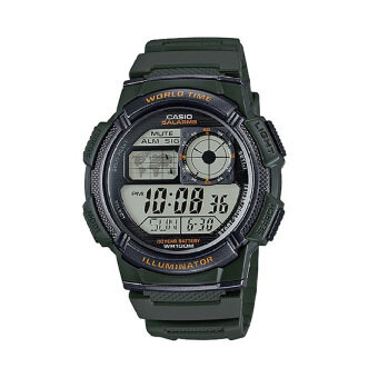 Casio นาฬิกาข้อมือผู้ชาย - รุ่น AE-1000W-3AVDF เขียว (Green)