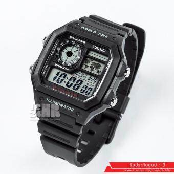 Casio นาฬิกาข้อมือ รุ่น AE-1200WH-1AV (สีดำ)