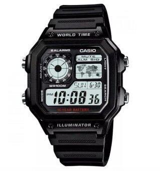 ซื้อ/ขาย Casio นาฬิกาข้อมือ AE-1200WH-1AVDF (สีดำ)